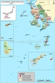 Map Japan Kagoshima Prefecture Map Map Of Kagoshima Prefecture Japan