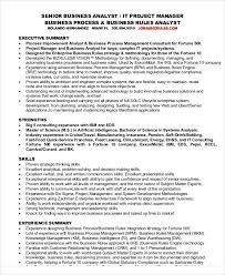 Business Analyst Resume Samples by 30 It Resume Samples Free U0026 Premium Templates