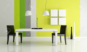 minimalist bright dining room rendering stock photo picture and