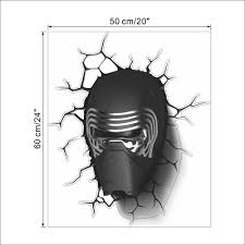Decoration Star Wall Decals Home by The New 3d Cartoon Star Wars Kids Room Bedroom Background Black
