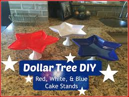 dollar tree diy red white u0026 blue cake stands 4th of july