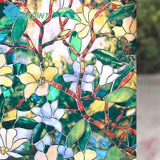 Stained Glass Window Decals Online Buy Wholesale Glass Door Sticker From China Glass Door