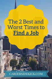 the best time to look for a job and when to avoid