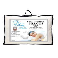 down and feather mix bed pillows ebay