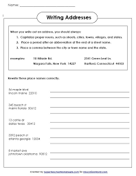 education world super teachers writing addresses worksheet