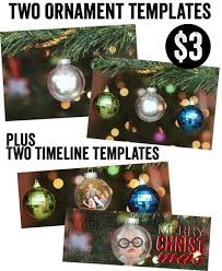 ornament template christmas holidays photoshop elements timeline