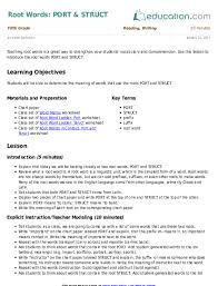 roots prefixes and suffixes lesson plan education com