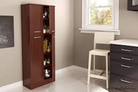 Kitchen Storage Pantry Cabinets Amazon Com South Shore Axess 4 Shelf Pantry Storage Royal Cherry