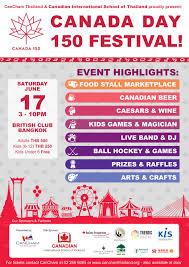 canada day 150 festival la fête du canada cancham thailand