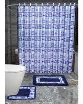 sweet deal on 22 piece bath accessory set navy blue flower