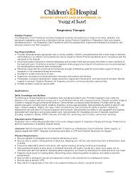 respiratory therapist resume sample resume for study