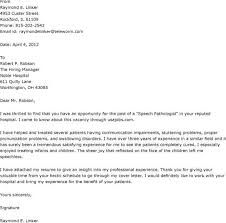 resume cover page cover letter for speech language pathologist assistant study our