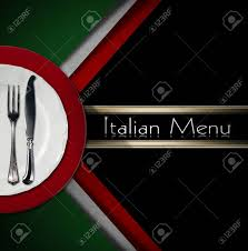 Green Red And White Flag Restaurant Menu With Green Red And White Italian Flag Text