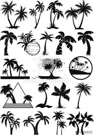 palm and coconut trees vector silhouette tattoo me pinterest