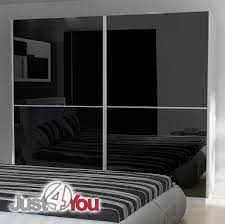 Black Gloss Bedroom Furniture Uk Wardrobe Mediolan 2 Sliding Doors With High Gloss Various Sizes