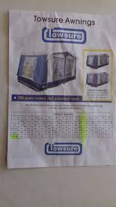 Size 13 Awning Towsure Insignia Awning Charcoal Size 13 995 Alloy Poles