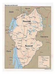 Rwanda Africa Map by Detailed Political Map Of Rwanda And Burundi With Roads Major