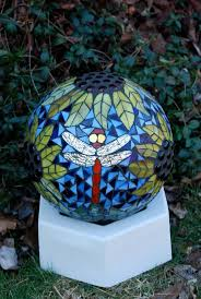 194 best gazing balls images on pinterest globe mosaic and