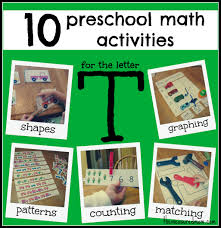 10 preschool math activities the letter t the measured mom