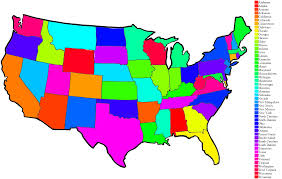 map of us states to color