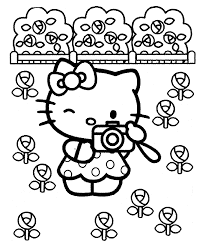 kitty coloring pages coloring kids