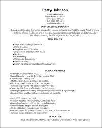hospital resume exles food science resume exles hospital chef jobsxs