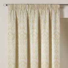 florence natural luxury pencil pleat jacquard lined curtains pair