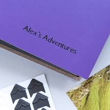 Art Leather Photo Albums Personalised Black Board Leather Photo Album By Begolden