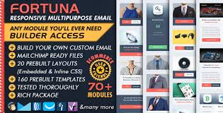ecommerce email builder fortuna multipurpose business email