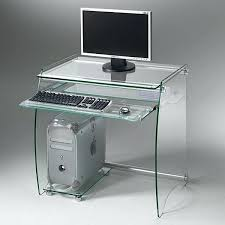 bureau informatique verre trempé bureau verre trempe table en fly bureau fly cool simple