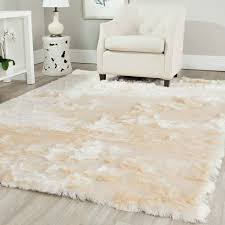 Sheepskin Area Rugs Snowy White Polar Rectangular White Sheepskin Faux Fur Rug 3