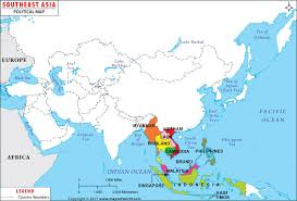 south asia countries map map of east and south asia major tourist attractions maps