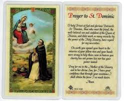 prayer card prayer to st dominic laminated prayer card