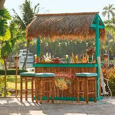 Tiki Backyard Designs by Margaritaville Trinidad Tiki Backless Barstool New Deck