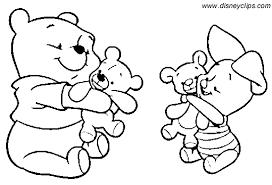 baby winnie pooh coloring free download