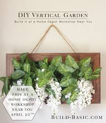 Home Depot Flower Projects - home depot virtual party u2013 vertical succulent garden u2039 build basic