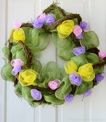 party ideas by mardi gras outlet spring wreath with deco mesh