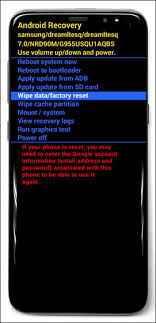 how to reset android factory data reset powered samsung galaxy s8 s8