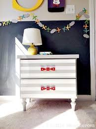 striped nightstand makeover 2 little supeheroes2 little supeheroes