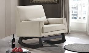 lizzie upholstered rocking chair groupon goods