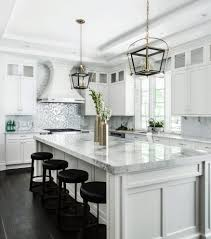 Transitional Kitchen - transitional kitchen design with natural quartz wingback dining