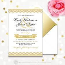 printable wedding invitation gold lace or burgundy u0026 gold