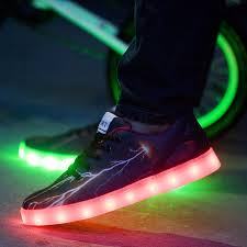 galaxy shoes light up 2016 new style men shoes with led lights glow luminous black