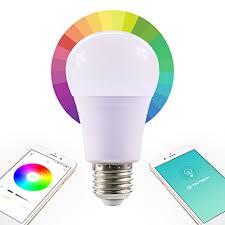 smart light bulbs amazon bluetooth smart led color changing dimmable light bulb rgb a19 e26