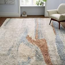 west elm rug marbled wool shag rug multi west elm au