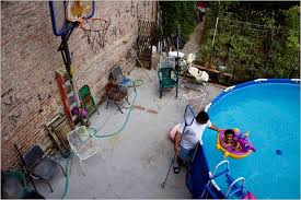 Deep Backyard Pool by New York A City Ankle Deep In Private Pools The New York Times