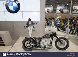 bmw custom tokyo japan 24th march 2017 motorcycle bmw displays custom at