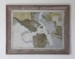 san francisco map framed san francisco map framed vintage nautical san francisco map