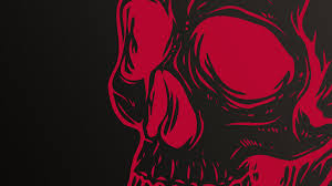 abstract skull wallpapers wallpaper 1600 1200 red and black skull