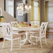 Round Pedestal Dining Room Table American Drew Camden Round Pedestal Dining Table White Hayneedle